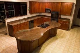 mesmerizing brown mahogany kitchen set with oval kitchen