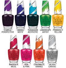 opi color paints collection nail splash