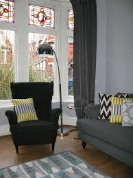 Ikea Strandmon Armchair Dark Grey Black Ikea U0027strandmon U0027 Wing Back Armchair Immaculate