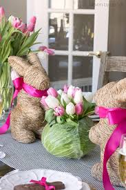 Easter Table Decor Setting A Simple Easter Table With Decorations You Can Snag At