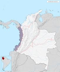 pacific region map pacific chocó region