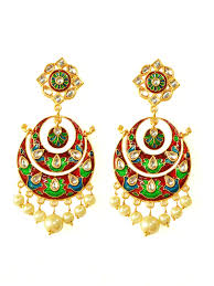 earrings image buy kundan chandbali earrings by label amara at jivaana