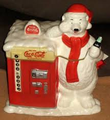 houston harvest gift products sold coca cola coke ceramic cookie jar polar vending machine