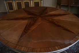 Round Pedestal Dining Table With Leaf Round Mahogany Dining Table With Leaves Antique Reproduction