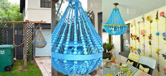 turquoise beaded chandelier diy turquoise beaded chandelier musethecollective