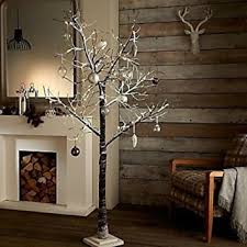 pre lit branches garden mile rustic 5ft luxury brown twig tree birch christmas