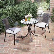 Wicker Bistro Chairs Shop Home Styles Marble 3 Metal Frame Wicker Bistro Patio