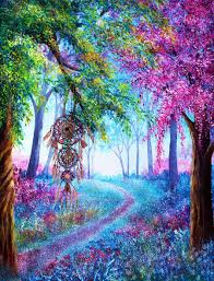 Purple Paint Law by Beautiful Colourful Painting With Dream Catcher Art Paintings