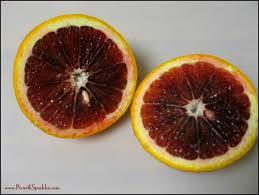 blood orange and pomegranate granita pie with sparkles