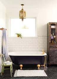 bathroom with black clawfoot tub featured golden legs ways to