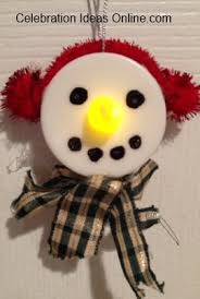 easy ornament craft make frosty out of a tealight