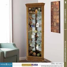 Corner Display Cabinet With Glass Doors Curio Cabinet Corner Curiobinet Oak With Glass Doors Lighted