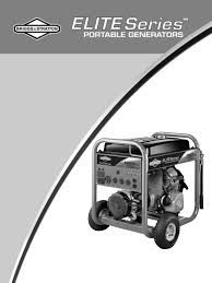 briggs u0026 stratton portable generator 030207 user guide