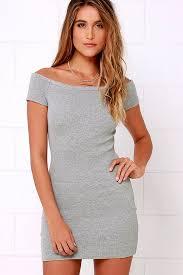 grey bodycon dress discounted grey sing me a sonnet grey the shoulder bodycon