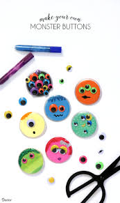 monster craft buttons diy project for kids darice