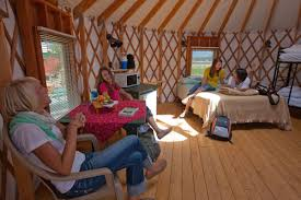 Living In A Yurt by Yurt Camping Could Be The Solution To Making Everyone Happy