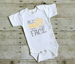 Halloween T Shirts For Girls All God U0027s Grace Bodysuit Christian Baby Gift Boy Coming Home