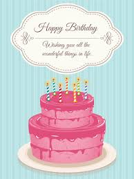 lovely pink birthday cake card birthday greeting cards by davia