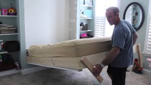 hideaway bed plans diy wall bed for under 150 youtube home