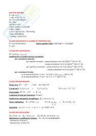 fisica tecnica dispense formulario appunti di fisica tecnica