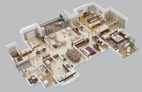 3d 600 square feet apartment design 4 bedroom house floor plans 3d