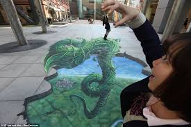 jack the giant killer english fairy tale the three headed giant joe and the giant beanstalk artist creates breathtaking 3d street
