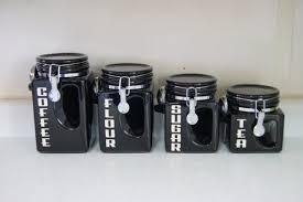 black canisters for kitchen pleasing 50 kitchen canister sets black inspiration design of