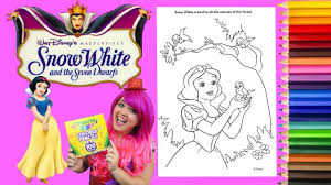 snow white coloring book coloring snow white disney princess coloring book page colored