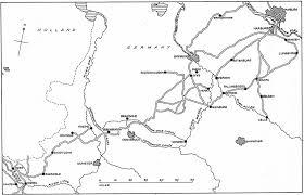Bremen Germany Map by Battles 1945