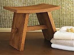 stunning teak shower seat design ideas with oak wooden material