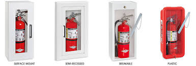 surface mount fire extinguisher cabinets fire extinguisher cabinets in stock uline