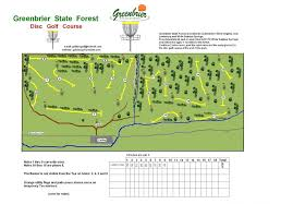 Wv State Parks Map by Greenbrier State Forest Disc Golf Course Professional Disc Golf