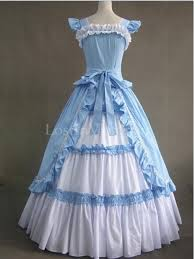 and white cotton victorian ball gown tea party vintage wedding