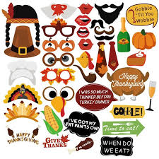thanksgiving props bestoyard 38pcs creative diy thanksgiving party photo booth props
