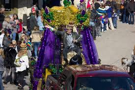 mardi gras king and costumes day parade 3 2 19