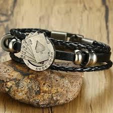 men braided leather bracelet images Men 39 s braided leather bracelet playing cards alvin 39 s little jpg