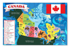 Quebec Canada Map Amazon Com Melissa U0026 Doug Canada Map Jumbo Jigsaw Floor Puzzle