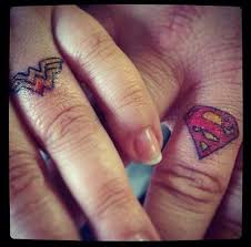 superman wedding rings hell yeah superman n woman superman wonderwoman tattoo