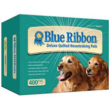 dog ribbon blue ribbon deluxe quilted dog pads 400 count walmart