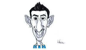 how to draw ángel di maría soccer player youtube