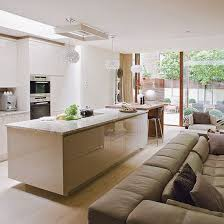 kitchen living ideas open plan kitchen design ideas handleless kitchen open plan