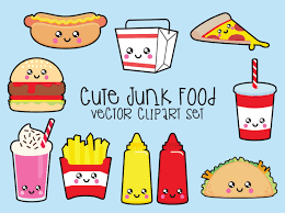 premium vector clipart kawaii junk food clipart kawaii