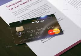 Credit Card Design Template Membership Bank Credit Card Mock Up By Ayashi Graphicriver