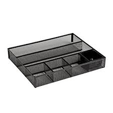 Wire Mesh Desk Organizer Rolodex Desk Drawer Organizer Metal Mesh Black
