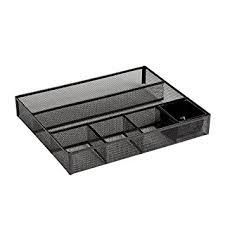 Deep Office Desk Amazon Com Rolodex Deep Desk Drawer Organizer Metal Mesh Black