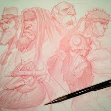 red sketch pencil yanarts drawing sketch picture