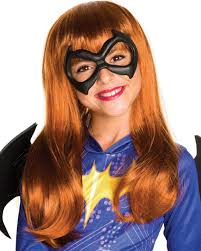 Batgirl Halloween Costume Accessories Child U0027s Girls Dc Super Hero Girls Batgirl Wig Costume Accessory
