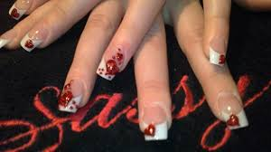 valentines 3d hearts nail art gallery