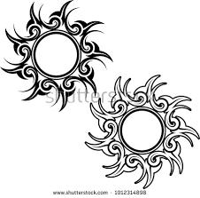 tribal sun design vector stock vector 1012314898