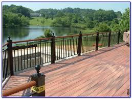 aluminum deck railing designs decks home decorating ideas